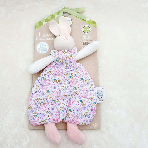 Havah The Bunny Organic Cotton Baby Lovey and Natural Rubber Teether