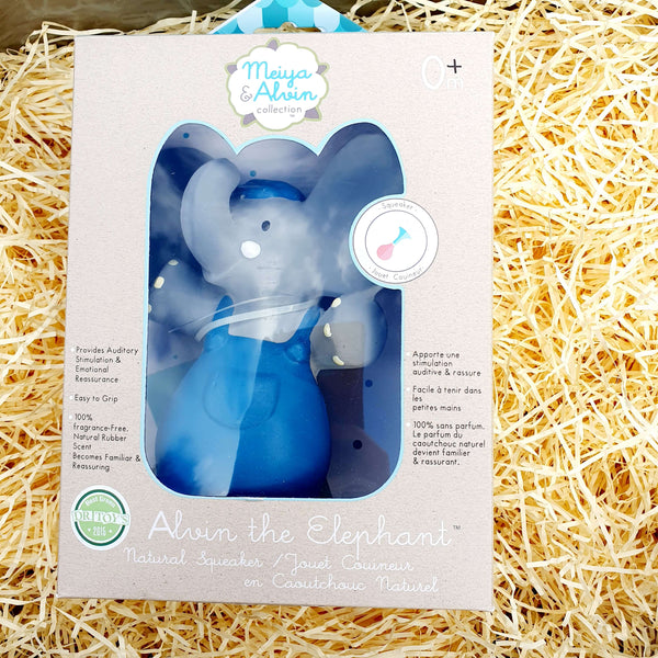 Alvin Elephant Natural Rubber Squeaker Gift Boxed