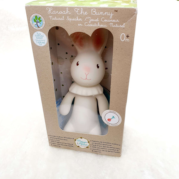 Havah Bunny Natural Rubber Squeaker Gift Boxed