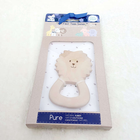 Lion Natural Rubber Teether Ring Gift Boxed