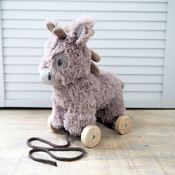 Norbert Pull Along Donkey for 6 months old - PREORDER