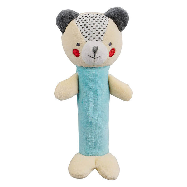 Organic Soft Cotton Baby Squeaker Bear