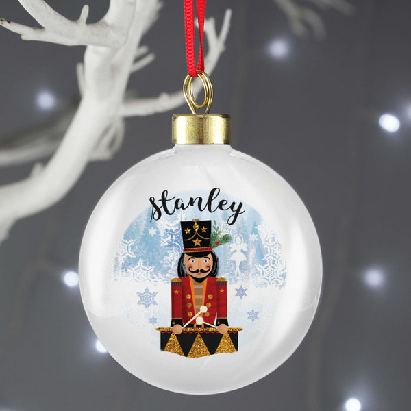 Personalised Nutcracker Christmas Tree Bauble