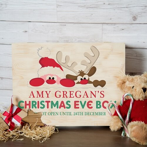 Personalised Santa and Rudolph Christmas Eve Box XLarge