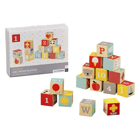 ABC Wooden Blocks for 1 year old