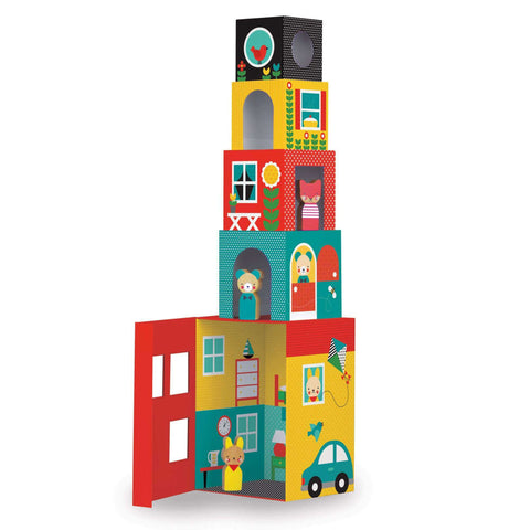 Peek-a-boo House Stacking Toys Block for 18 months old