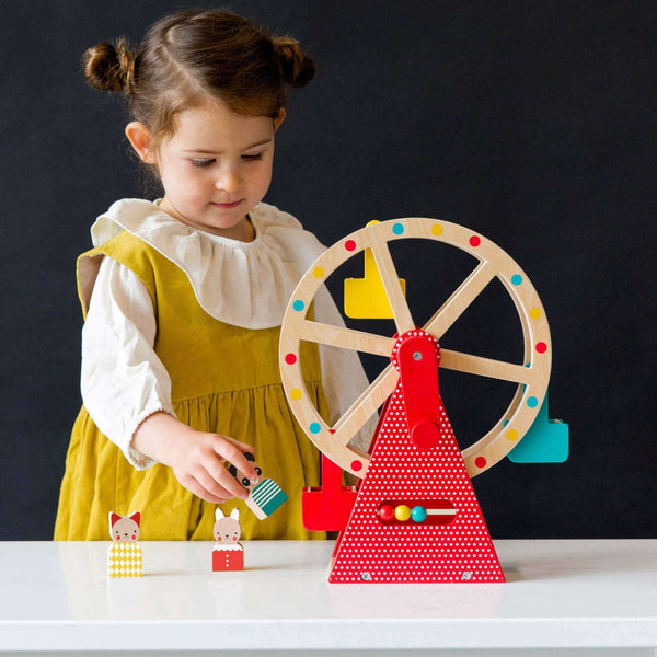 Wooden Ferris Wheel Carnival play set toys for 3 year olds