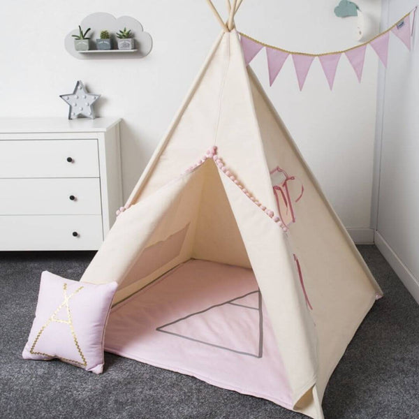 Pink Tipi Gold Teepee Set Oeko-Tex®100 Certified