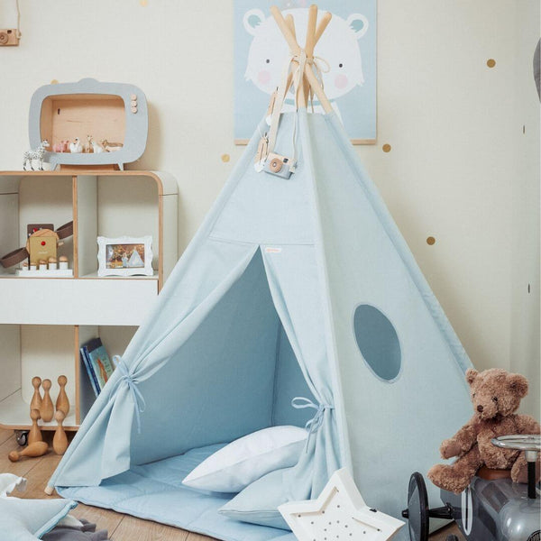 Plain Blue Teepee Sets OEKO-TEX®100 Certified