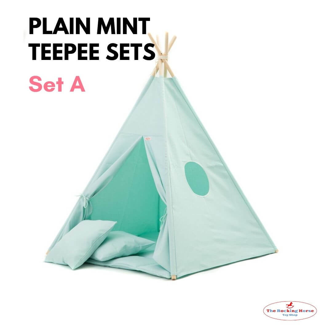Plain Mint Teepee Sets OEKO-TEX®100 Certified