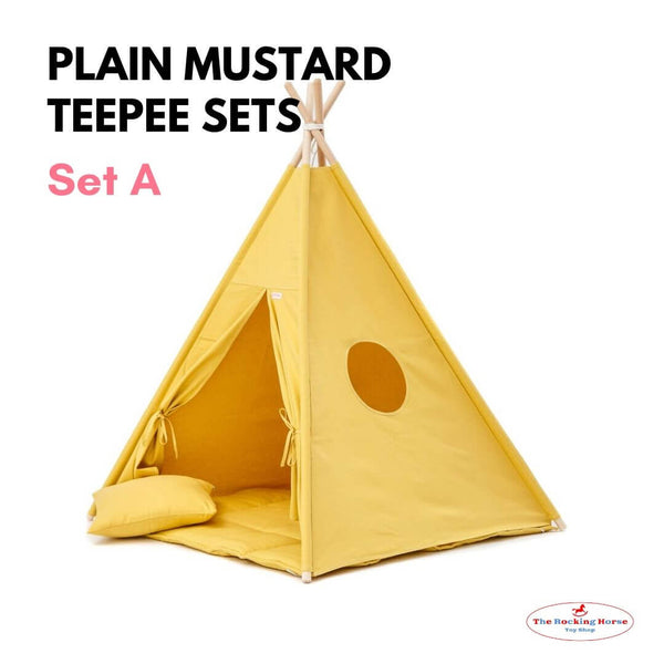 Plain Mustard Teepee Sets OEKO-TEX®100 Certified