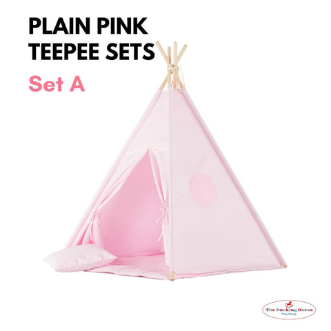 Plain Pink Teepee Sets OEKO-TEX®100 Certified