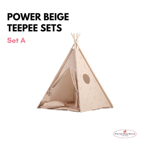 Power Beige Teepee Sets OEKO-TEX®100 Certified