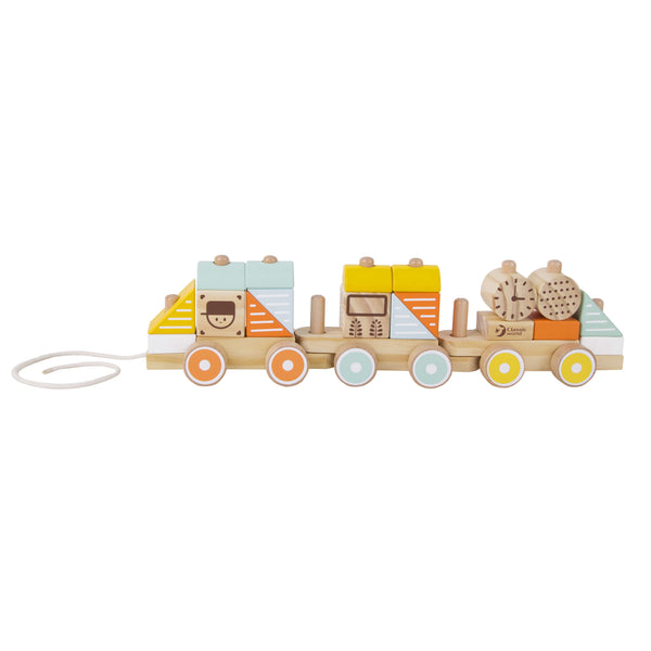 Pull Along Train Stacking Baby Toy for 1 year old