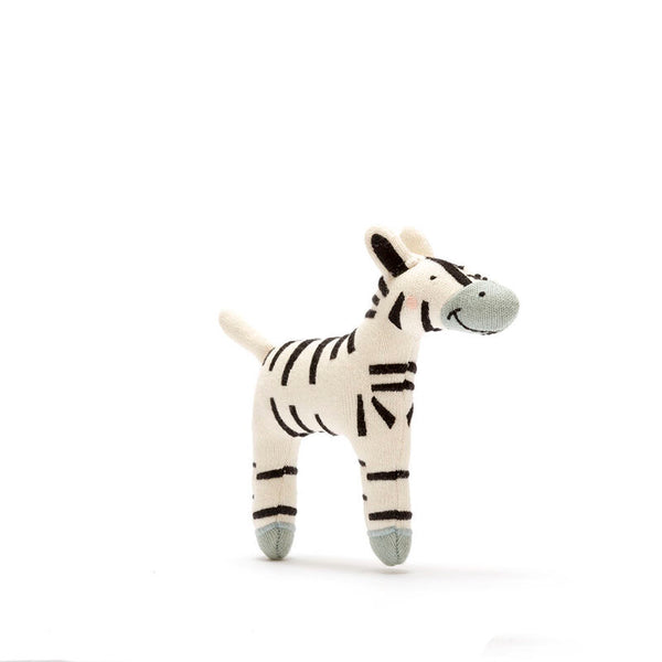 Organic Cotton Zebra Soft Toys Small