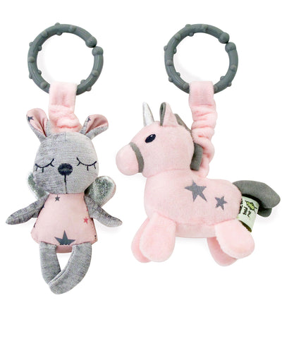 Celeste & Fae Baby Rattle and Squeaker Toy Set