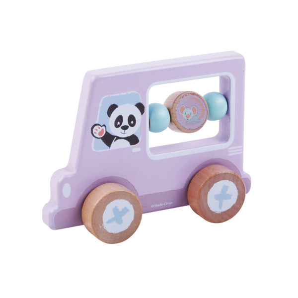 Panda Activity Car - Wooden Toys For Children