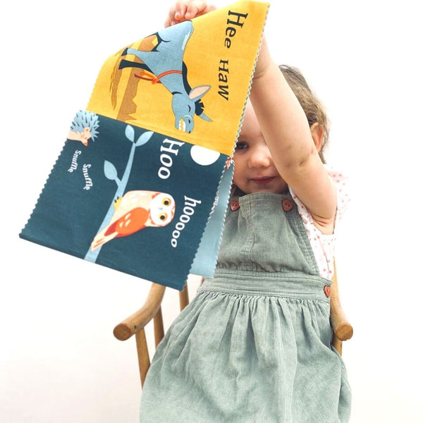 The Noisy Farmyard Rag Book in Gift Box