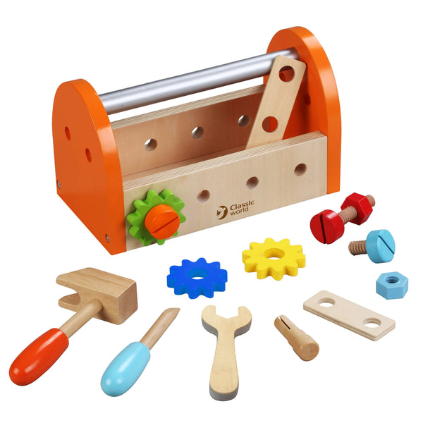 Carpenter Wooden Toolbox Toys for 3 years old