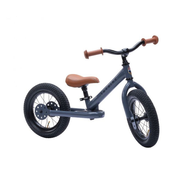 Trybike Steel Balance Bike Grey or White for 2 years old plus
