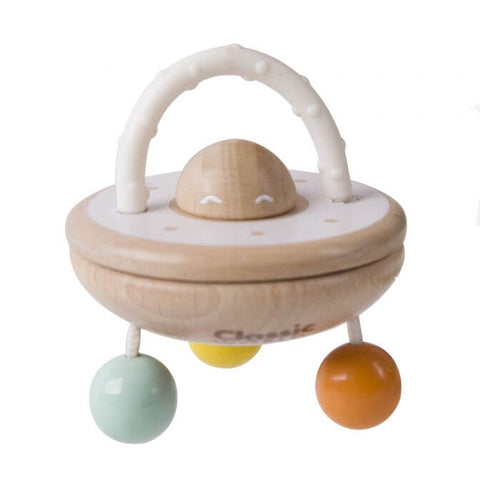 UFO Baby Rattle toys and Wooden Teether for babies of 6 months old