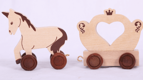 Wooden Train Letters & Engine Sets