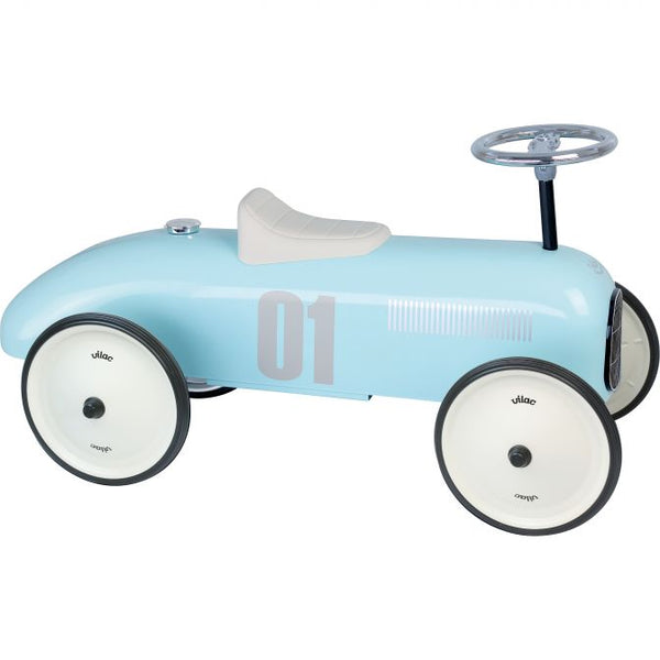 Classic Ride On Metal Car - Light Blue
