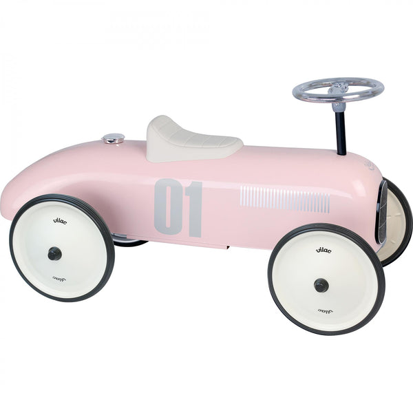Classic Ride On Metal Car - Pink