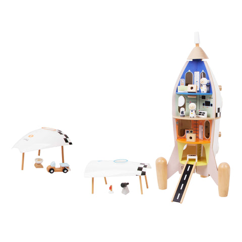 Wooden Rocket Ship Building and Role play toys for 3 years old