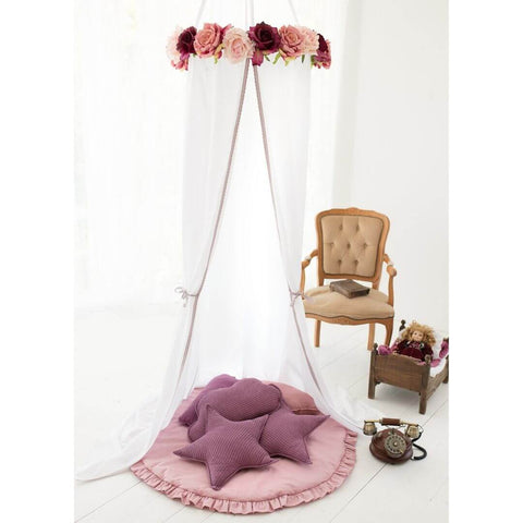 White Canopy Sets with Roses  Oeko-Tex®100 Certified