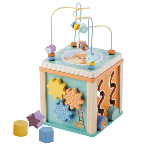 Activity Cube - Wooden Toys For Toddlers