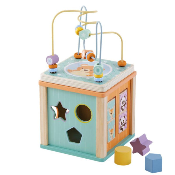 Activity Play Cube - Wooden Toys For 1 Year Olds