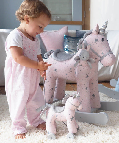 Baby Toys - Celeste Unicorn Pull Along By Little Bird Told Me