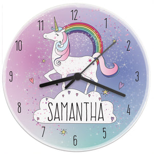 Gifts - Personalised Unicorn Wooden Clock