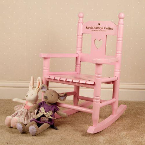 Personalised Engraved Wooden Rocking Chair
