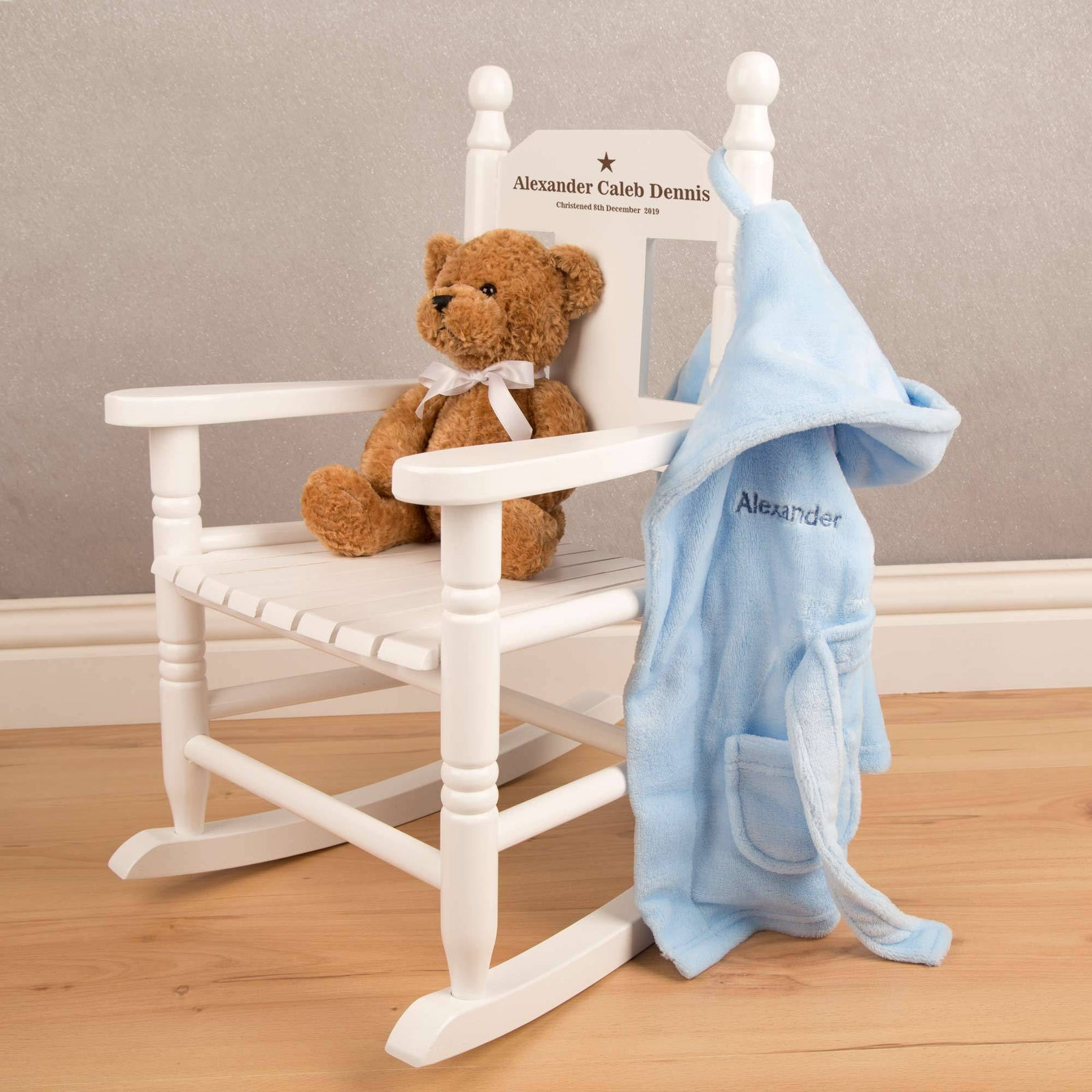 Picture of: Personalised Childrens Rocking Chair Nursery Decor