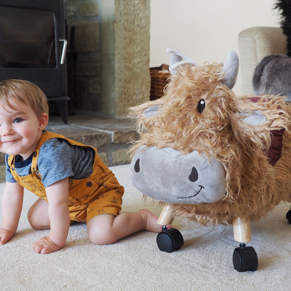 Ride On Toys - Hubert Ride On Highland Cow By Little Bird Told Me