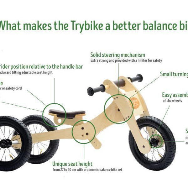 Ride On Toys - Trybike Wooden 4 In 1