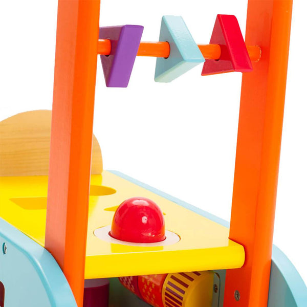 Ride On Toys - VILAC 3 IN 1 Push Along Trolley Walker Ride-On