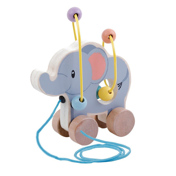 Rolling Bead Coaster Pull Along – Elephant