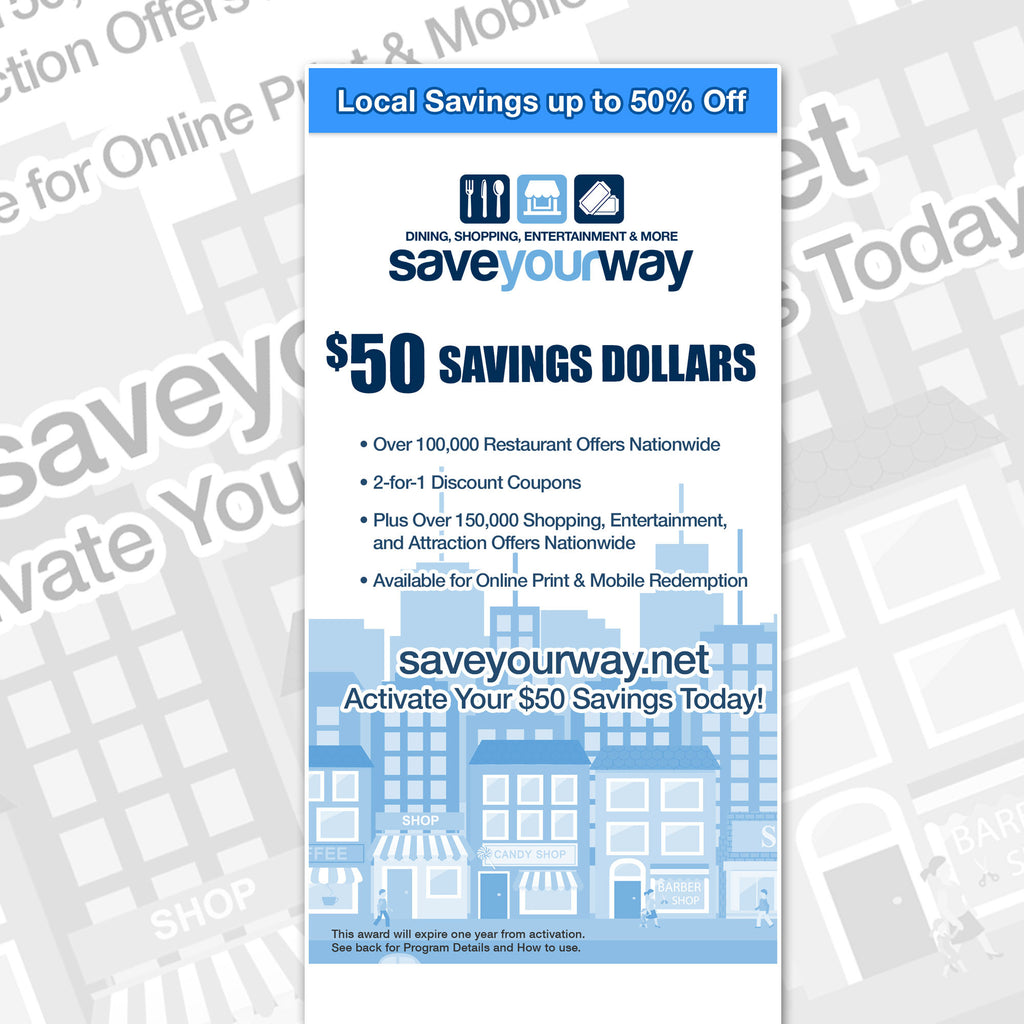 $50 Local Savings Dollars Card