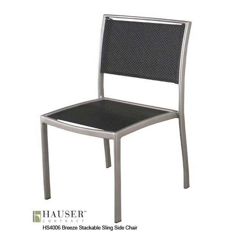 breeze stackable sling side chair