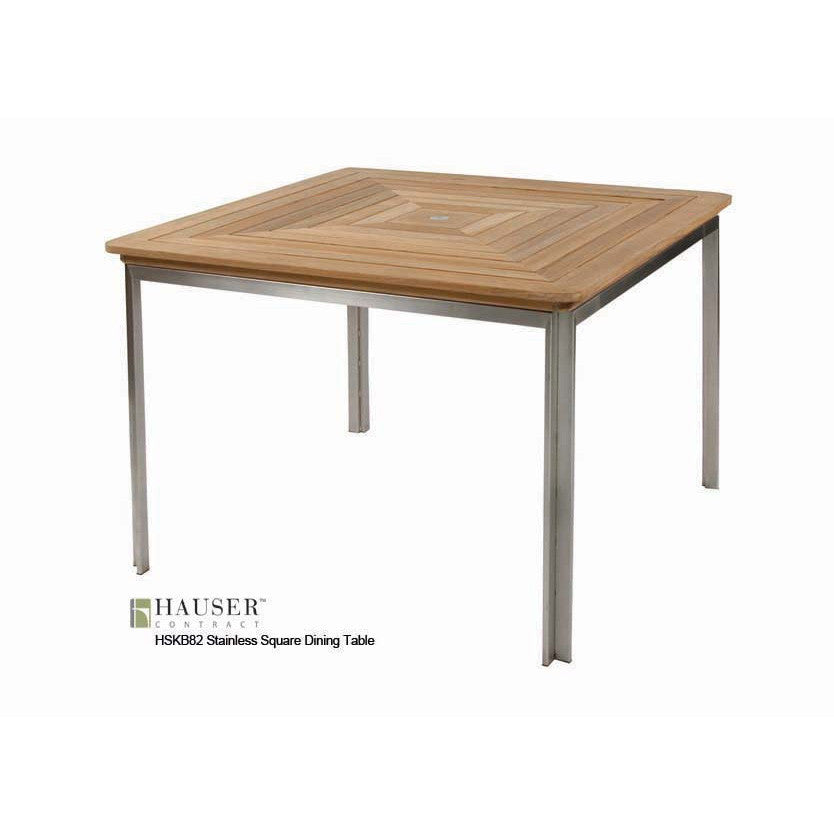 42 Square Dining Table Hauser Site Furniture