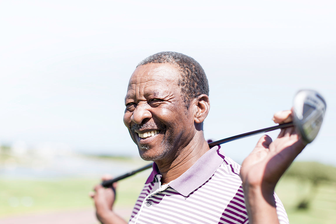 Man at golf course