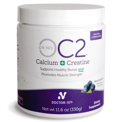 Dr. Ni's OC2 supplement with calcium citrate, vitamin D3, and magnesium for bone health and creatine for muscle strength