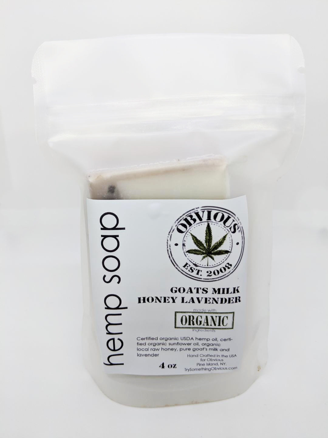 Hemp Bar Soap - Goats Milk Honey Lavender