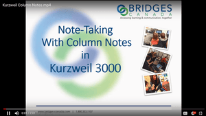 New how-to video: -- Column Notes in K3000 Key to Literacy Success