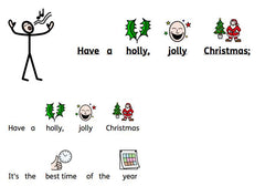 Holly Jolly Christmas Song with symbol supports