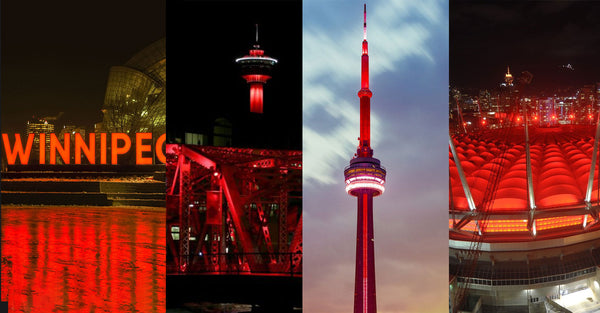 Buildings and monuments around Canada will light up red in support of dyslexia awareness