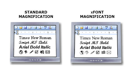 Standard vs xFont Magnification